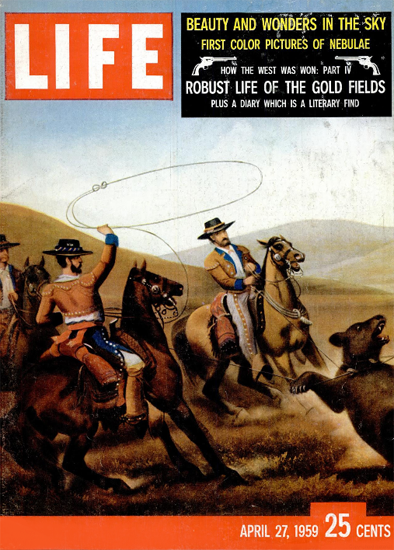 Robust Life of the Gold Fields 27 Apr 1959 Copyright Life Magazine | Life Magazine Color Photo Covers 1937-1970