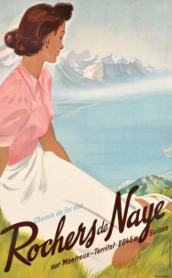 Rochers De Naye Sur Montreux Suisse 1950 | Sex Appeal Vintage Ads and Covers 1891-1970