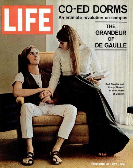 Rod Singler Cindy Stewart Dorm 20 Nov 1970 Copyright Life Magazine | Life Magazine Color Photo Covers 1937-1970