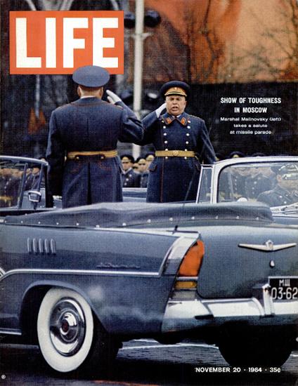 Rodion Malinovsky Missile Parade 20 Nov 1964 Copyright Life Magazine | Life Magazine Color Photo Covers 1937-1970