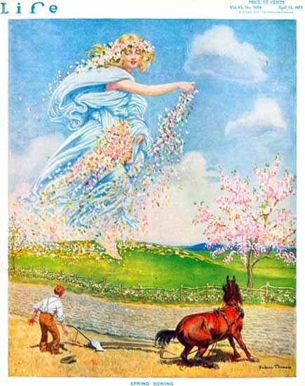 Rodney Thomson Life Humor Magazine 1915-04-15 Copyright | Life Magazine Graphic Art Covers 1891-1936