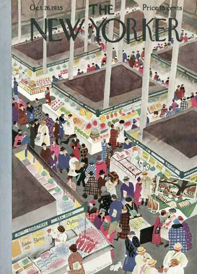 Roger Duvoisin The New Yorker 1935_10_26 Copyright   The New Yorker Graphic Art Covers 1925-1945