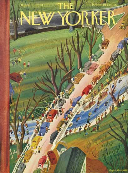 Roger Duvoisin The New Yorker 1941_04_05 Copyright | The New Yorker Graphic Art Covers 1925-1945
