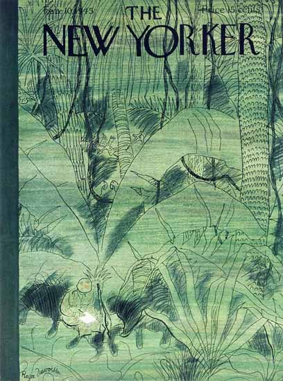 Roger Duvoisin The New Yorker 1945_02_10 Copyright | The New Yorker Graphic Art Covers 1925-1945