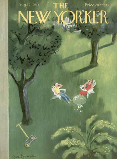 Roger Duvoisin The New Yorker 1950_08_12 Copyright | The New Yorker Graphic Art Covers 1946-1970