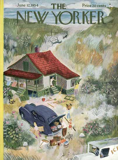 Roger Duvoisin The New Yorker 1954_06_12 Copyright | The New Yorker Graphic Art Covers 1946-1970