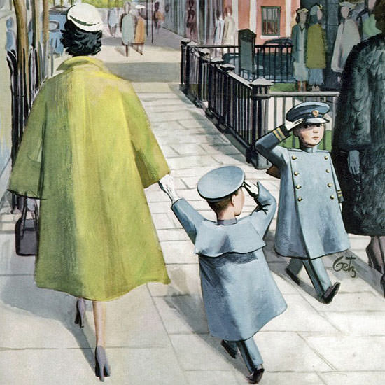 Roger Duvoisin The New Yorker 1956_04_14 Copyright crop | Best of Vintage Cover Art 1900-1970
