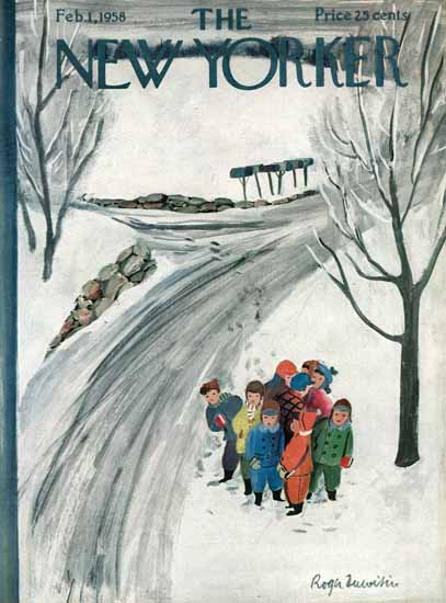 Roger Duvoisin The New Yorker 1958_02_01 Copyright | The New Yorker Graphic Art Covers 1946-1970