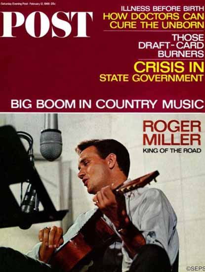 Roger Miller Saturday Evening Post 1966_02_12 | Vintage Ad and Cover Art 1891-1970