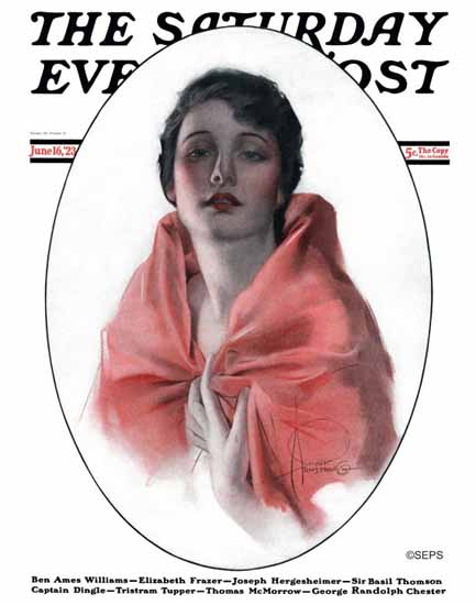 Rolf Armstrong Cover Artist Saturday Evening Post 1923_06_16 | The Saturday Evening Post Graphic Art Covers 1892-1930