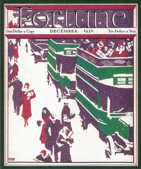 Ronald McLeod Fortune Magazine December 1930 Copyright | Fortune Magazine Graphic Art Covers 1930-1959