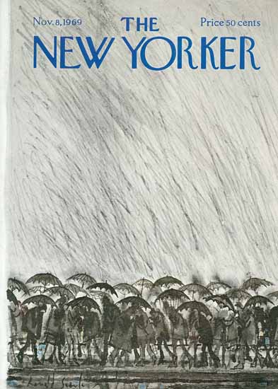 Ronald Searle The New Yorker 1969_11_08 Copyright | The New Yorker Graphic Art Covers 1946-1970