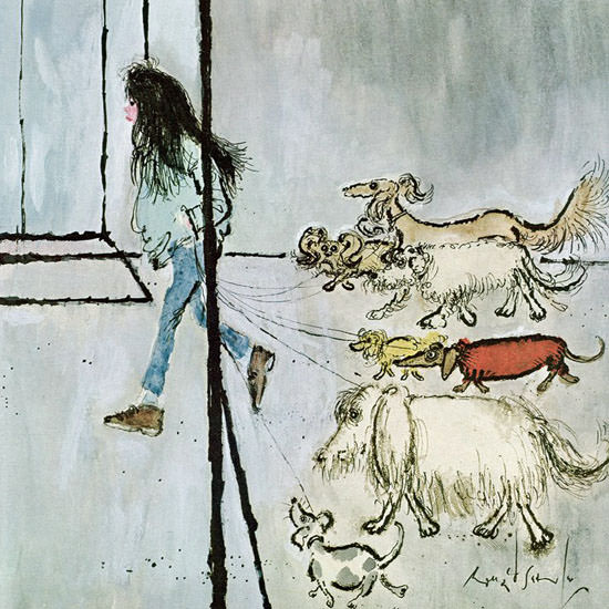 Ronald Searle The New Yorker 1970_09_19 Copyright crop | Best of 1960s Ad and Cover Art