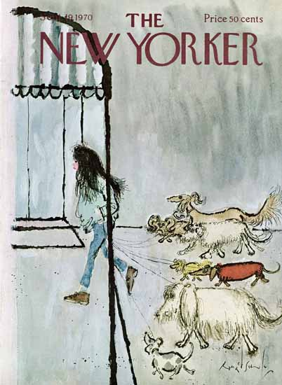 Ronald Searle The New Yorker 1970_09_19 Copyright | The New Yorker Graphic Art Covers 1946-1970