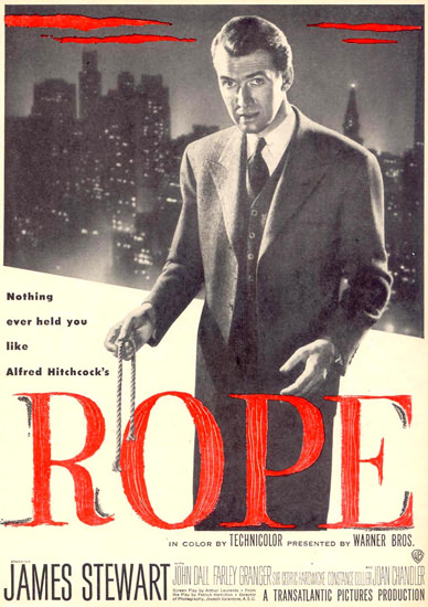 Rope James Stewart Movie 1948 | Vintage Ad and Cover Art 1891-1970