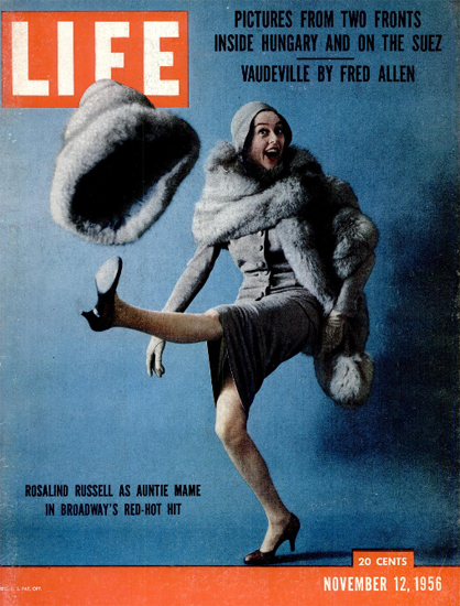 Rosalind Russell as Auntie Mame 12 Nov 1956 Copyright Life Magazine | Life Magazine Color Photo Covers 1937-1970
