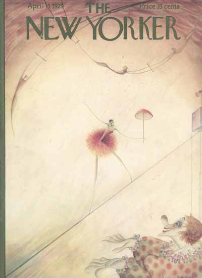 Rose Silver The New Yorker 1929_04_13 Copyright | The New Yorker Graphic Art Covers 1925-1945