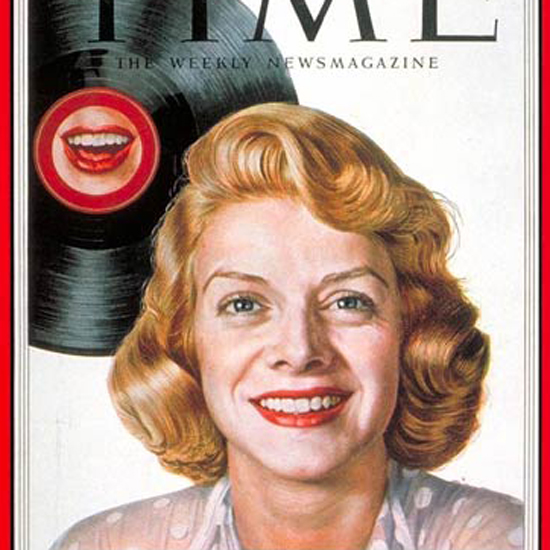 Rosemary Clooney Time Magazine 1953-02 by Boris Chaliapin crop   Best of Vintage Cover Art 1900-1970