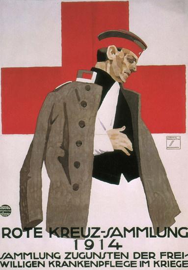 Rote Kreuz-Sammlung 1914 Germany Red Cross | Vintage War Propaganda Posters 1891-1970