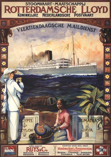 Rotterdamsche Lloyd Ceylon Sri Lanka | Vintage Travel Posters 1891-1970