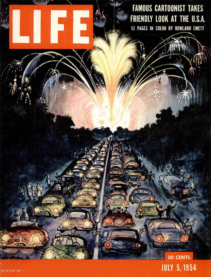 Rowland Emett Portrait of the USA 5 Jul 1954 Copyright Life Magazine | Life Magazine Color Photo Covers 1937-1970