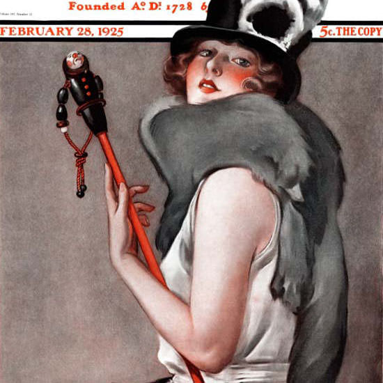 Roy Best Artist Saturday Evening Post 1925_02_28 Copyright crop | Best of 1920s Ad and Cover Art