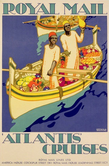 Royal Mail Atlantis Cruises 1930 | Vintage Travel Posters 1891-1970