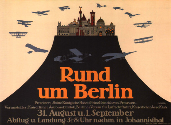 Rund Um Berlin Deutschland Sightseeing Flights | Vintage Ad and Cover Art 1891-1970