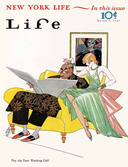 Russell Patterson Life Humor Magazine 1929-03-08 Copyright | Life Magazine Graphic Art Covers 1891-1936