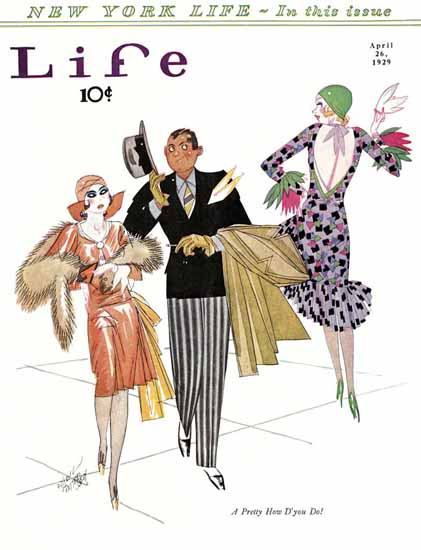 Russell Patterson Life Humor Magazine 1929-04-26 Copyright | Life Magazine Graphic Art Covers 1891-1936