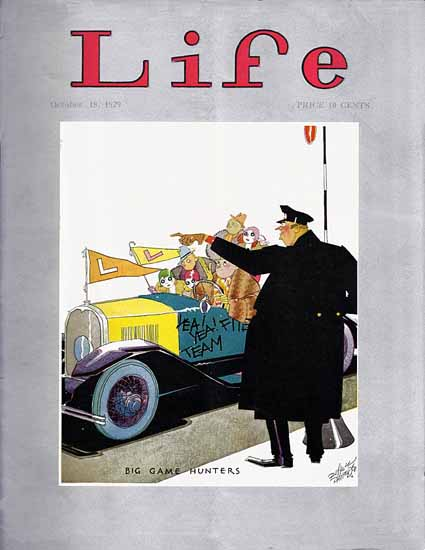 Russell Patterson Life Humor Magazine 1929-10-18 Copyright | Life Magazine Graphic Art Covers 1891-1936