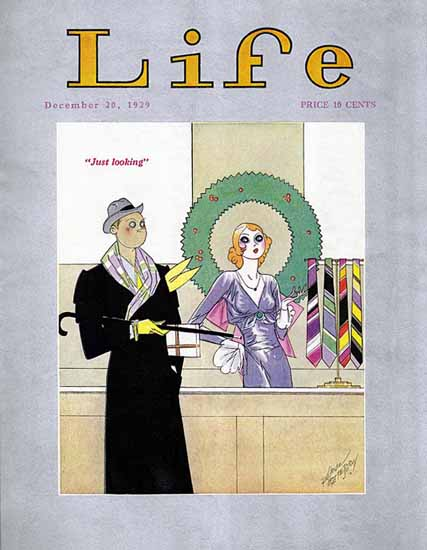 Russell Patterson Life Humor Magazine 1929-12-20 Copyright | Life Magazine Graphic Art Covers 1891-1936