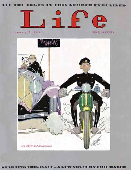 Russell Patterson Life Humor Magazine 1930-01-03 Copyright | Life Magazine Graphic Art Covers 1891-1936