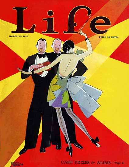 Russell Patterson Life Magazine Cash for Alibis 1927-03-10 Copyright | Life Magazine Graphic Art Covers 1891-1936