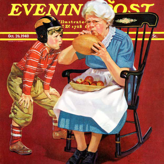 Russell Sambrook Saturday Evening Post 1940_10_26 Copyright crop   Best of Vintage Cover Art 1900-1970