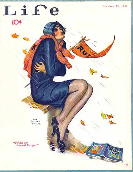 Ruth Eastman Rodgers Life Humor Magazine 1929-10-25 Copyright   Life Magazine Graphic Art Covers 1891-1936