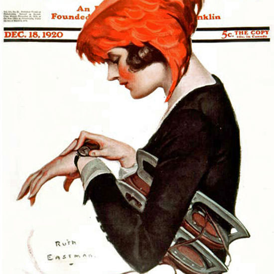 Ruth Eastman Rodgers Saturday Evening Post 1920_12_18 Copyright crop | Best of Vintage Cover Art 1900-1970