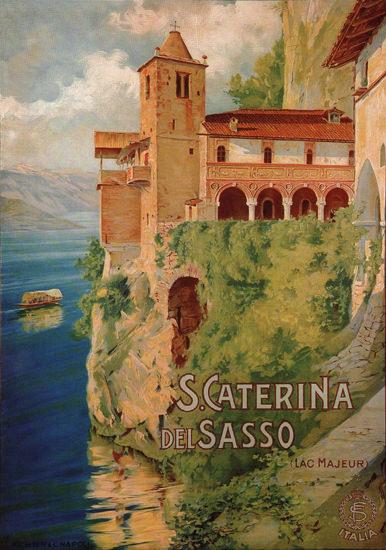 S Caterina Del Sasso Lac Majeur Lake Maggiore | Vintage Travel Posters 1891-1970