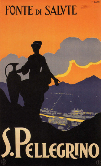 S Pellegrino Fonte Di Salvte Spa Health Resort | Vintage Travel Posters 1891-1970