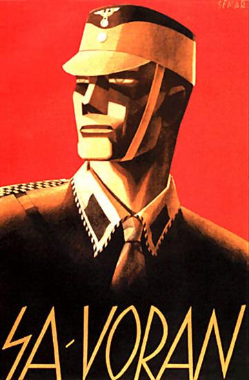 SA Voran Germany Deutschland | Vintage War Propaganda Posters 1891-1970