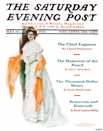 SD Runyon Saturday Evening Post Cover Art 1903_05_30 | The Saturday Evening Post Graphic Art Covers 1892-1930