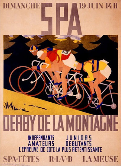 SPA Derby De La Montagne Charles Gilbert | Vintage Ad and Cover Art 1891-1970