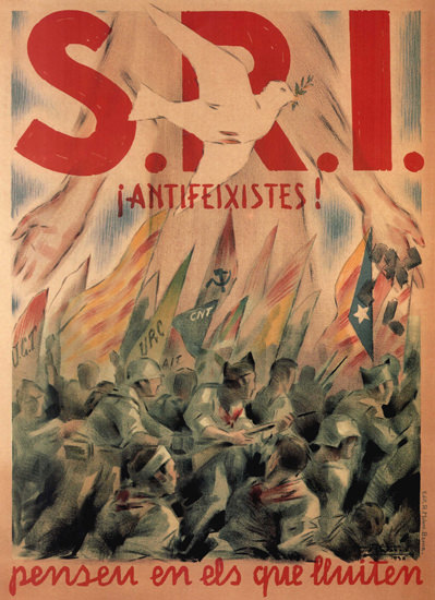 SRI Antifeixistes Spain Espana | Vintage War Propaganda Posters 1891-1970