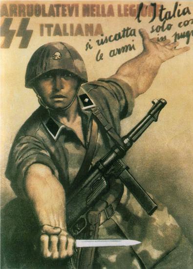 SS Italia Arruolatevi Nella Legione Italy Italia | Vintage War Propaganda Posters 1891-1970