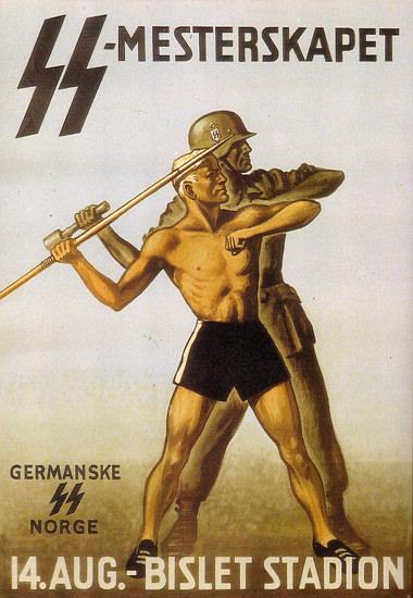 SS Mesterskapet Germanske SS Norge Bislet | Vintage War Propaganda Posters 1891-1970