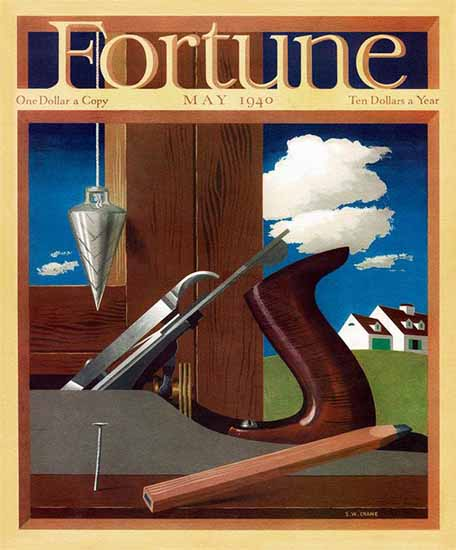 SW Crane Fortune Magazine May 1940 Copyright | Fortune Magazine Graphic Art Covers 1930-1959