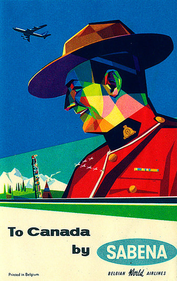 Sabena Canada 1950s | Vintage Travel Posters 1891-1970