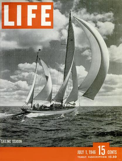 Sailing Season 1 Jul 1946 Copyright Life Magazine | Life Magazine BW Photo Covers 1936-1970
