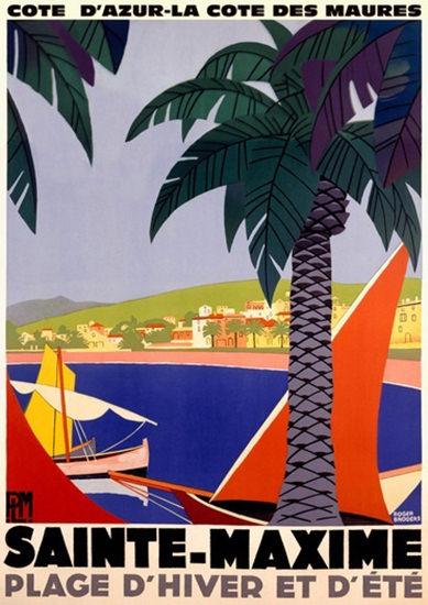 Sainte-Maxime Cote D Azur La Cote Des Maures | Vintage Travel Posters 1891-1970