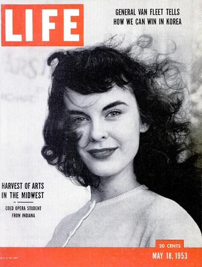 Sallilee Conlon from Indiana 18 May 1953 Copyright Life Magazine | Life Magazine BW Photo Covers 1936-1970